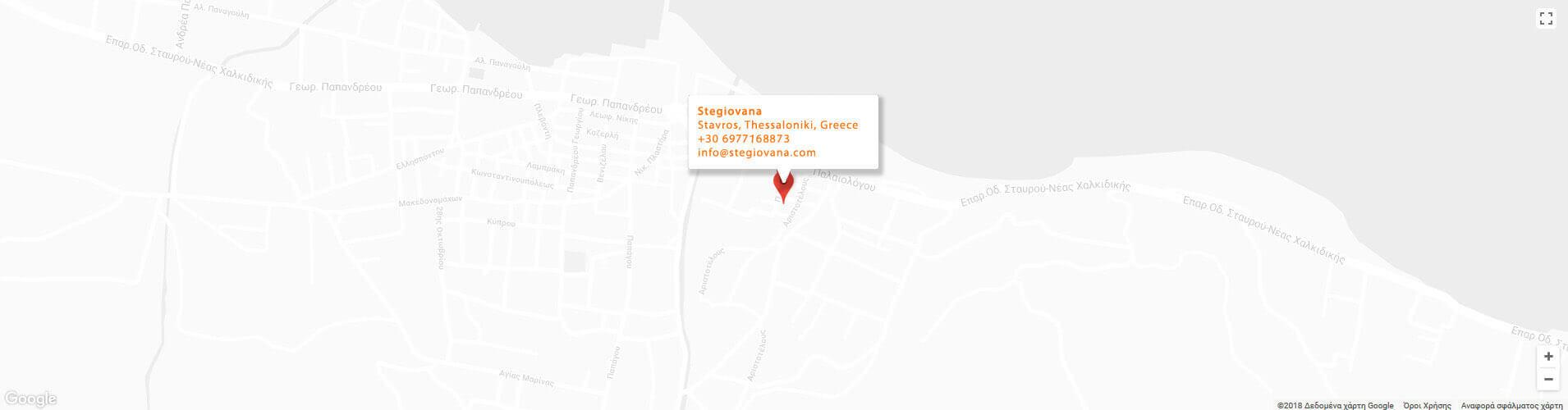 Position of Stegiovana on Google Map